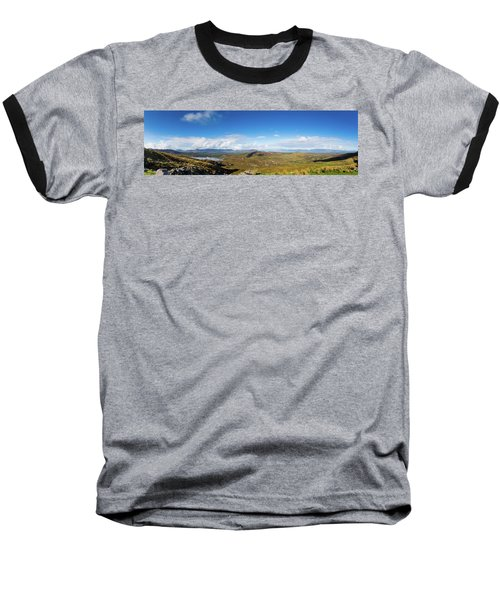 Panorama Of Ballycullane And Lough Acoose In Ireland Baseball T-Shirt by Semmick Photo