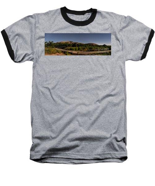 Panorama Of Enchanted Rock At Night - Starry Night Texas Hill Country Fredericksburg Llano Baseball T-Shirt