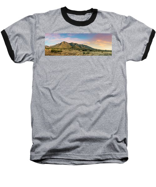 Panorama Of Hunter Peak And Frijole Ridge At Guadalupe Mountains National Park - West Texas Baseball T-Shirt