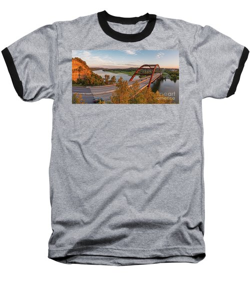 Panorama Of Lake Austin And Texas Hill Country From Highway 360 Overlook - Austin Texas Baseball T-Shirt