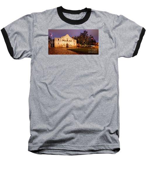 Panorama Of The Alamo In San Antonio At Dawn - San Antonio Texas Baseball T-Shirt