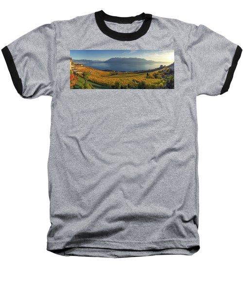 Panorama On Lavaux Region, Vaud, Switzerland Baseball T-Shirt
