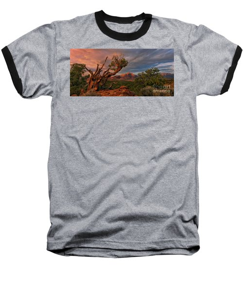 Baseball T-Shirt featuring the photograph Panorama Storm Back Of Zion Near Hurricane Utah by Dave Welling