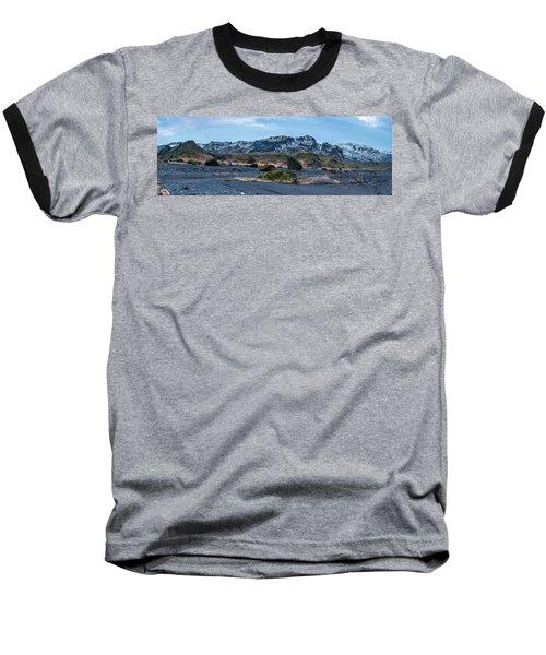 Panorama View Of An Icelandic Mountain Range Baseball T-Shirt by Joe Belanger