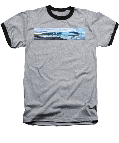 Panorama View Of Icland's Secret Lagoon Baseball T-Shirt by Joe Belanger