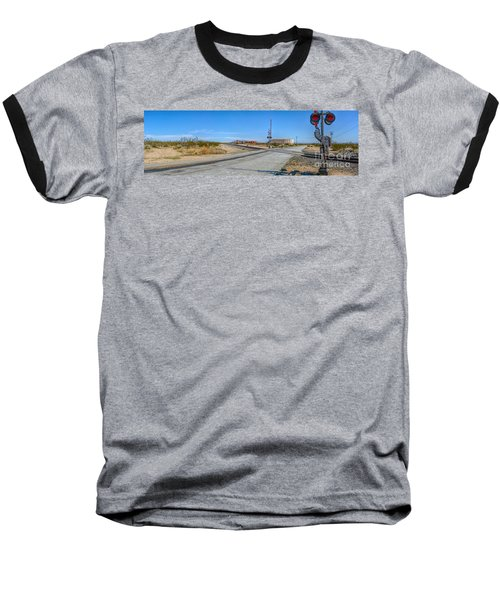 Panoramic Railway Signal Baseball T-Shirt