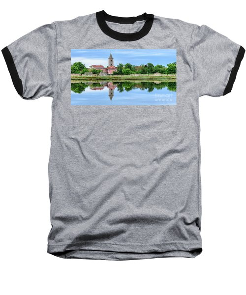 Panoramic Reflections Of Nin, Croatia Baseball T-Shirt