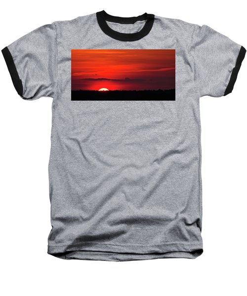 Panoramic Sunset Baseball T-Shirt