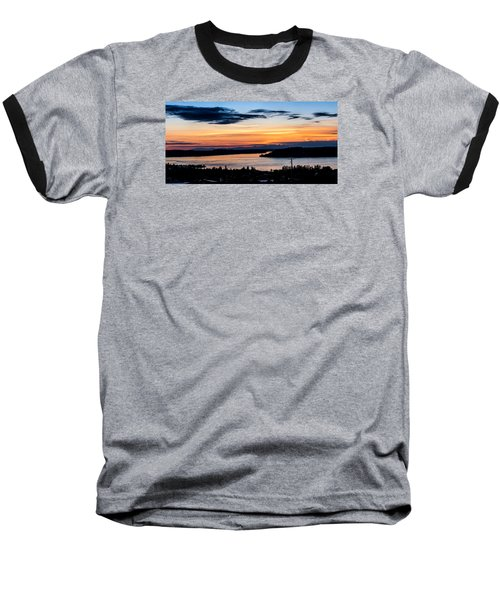 Panoramic Sunset Over Hail Passage  Baseball T-Shirt by Rob Green