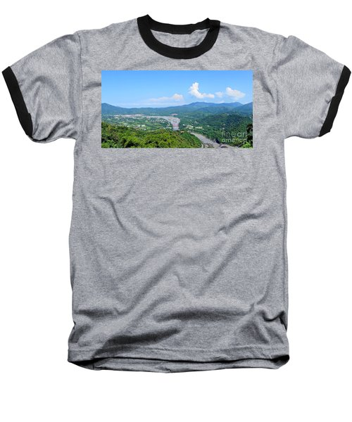 Baseball T-Shirt featuring the photograph Panoramic View Of Southern Taiwan by Yali Shi