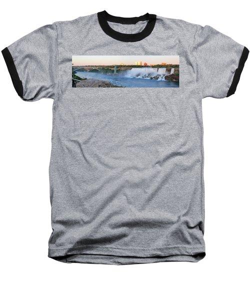 Panoramic Views Of The Peacebridge, Niagara River And American Falls Baseball T-Shirt