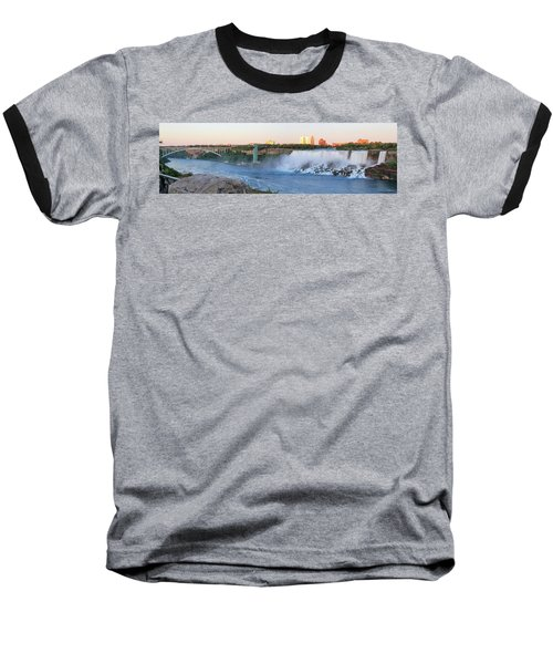 Panoramic Views Of The Peacebridge, Niagara River And American Falls Baseball T-Shirt