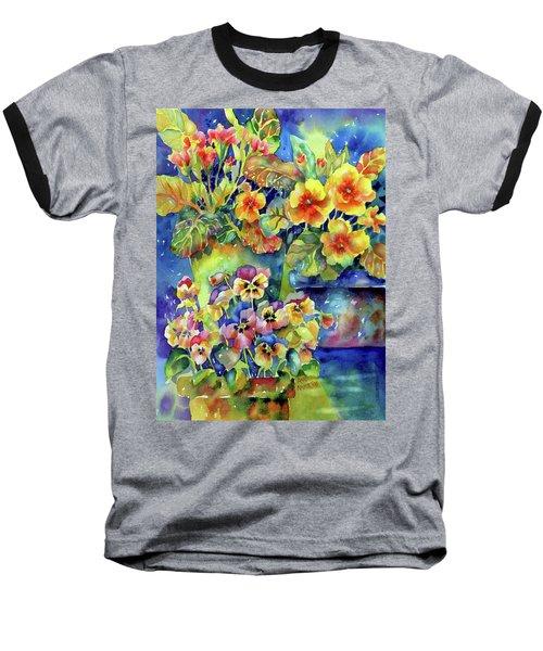 Pansies And Primroses Baseball T-Shirt