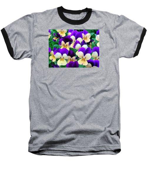 Pansies Baseball T-Shirt