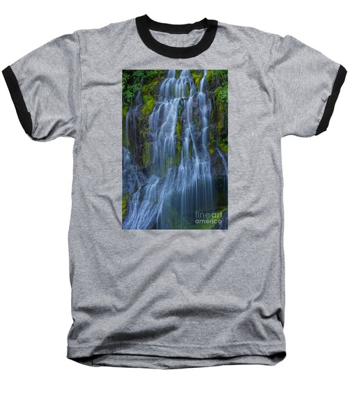 Panther Creek Falls Summer Waterfall -close 2 Baseball T-Shirt
