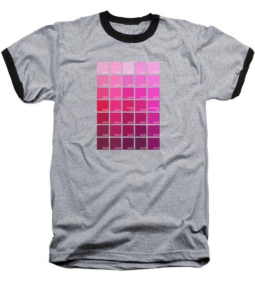 Pantone Shades Of Pink Baseball T-Shirt