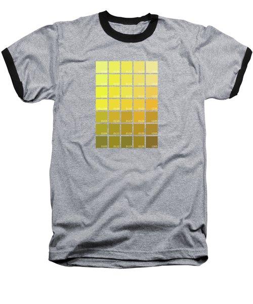 Pantone Shades Of Yellow Baseball T-Shirt