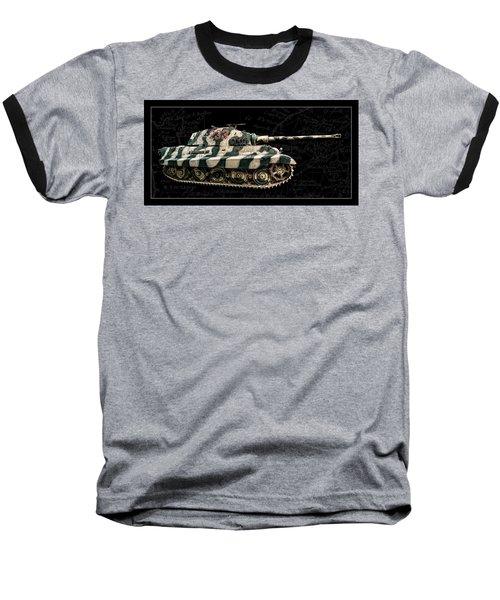 Panzer Tiger II Side Bk Bg Baseball T-Shirt