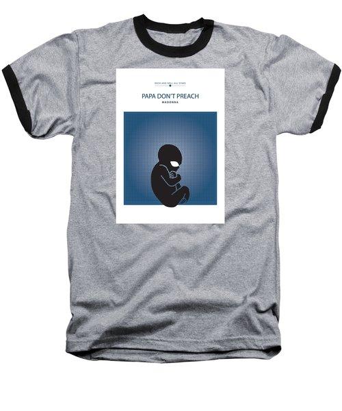 Baseball T-Shirt featuring the drawing Papa Don't Preach -- Madonna by David Davies