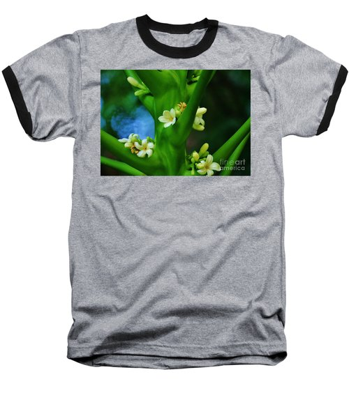 Papaya Blossoms Baseball T-Shirt