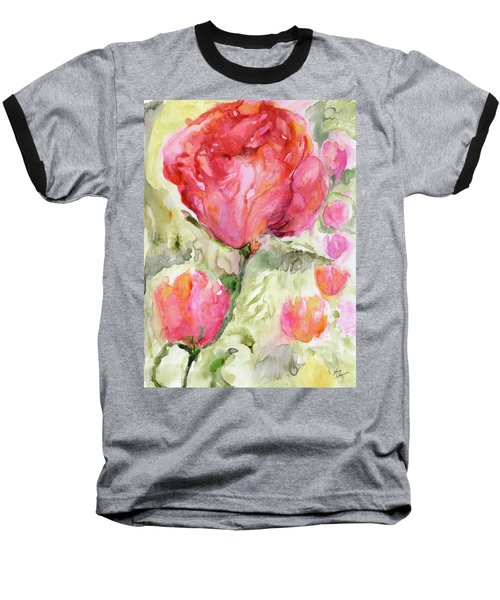 Paper Flowers Baseball T-Shirt