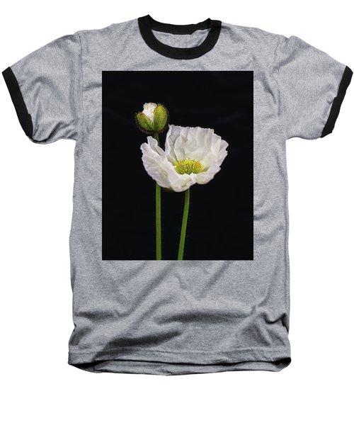 Paper White Poppy Baseball T-Shirt