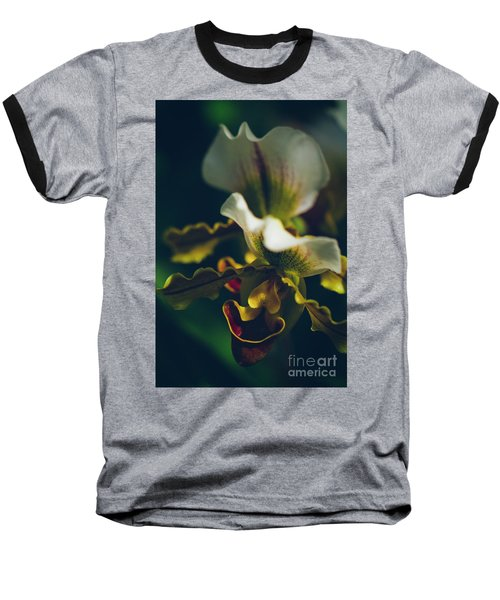 Baseball T-Shirt featuring the photograph Paphiopedilum Villosum Orchid Lady Slipper by Sharon Mau