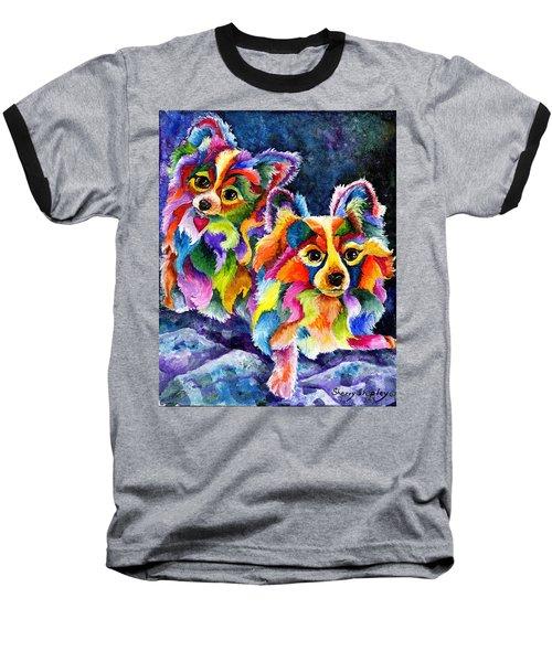 Papillion Pair Baseball T-Shirt