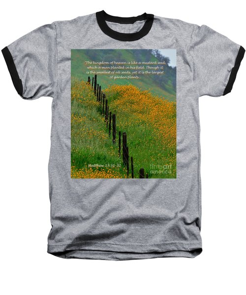 Baseball T-Shirt featuring the photograph Parable Of The Mustard Seed by Debby Pueschel