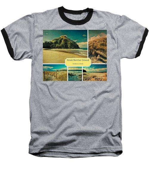 Paradise At The Barrier Baseball T-Shirt