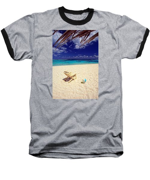 Paradise Beach Ball Baseball T-Shirt