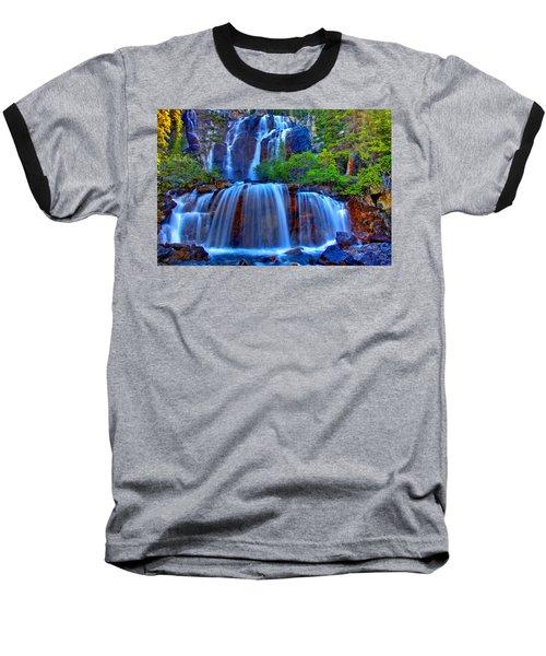 Paradise Falls Baseball T-Shirt by Scott Mahon