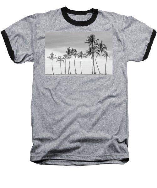 Paradise In Black And White Baseball T-Shirt