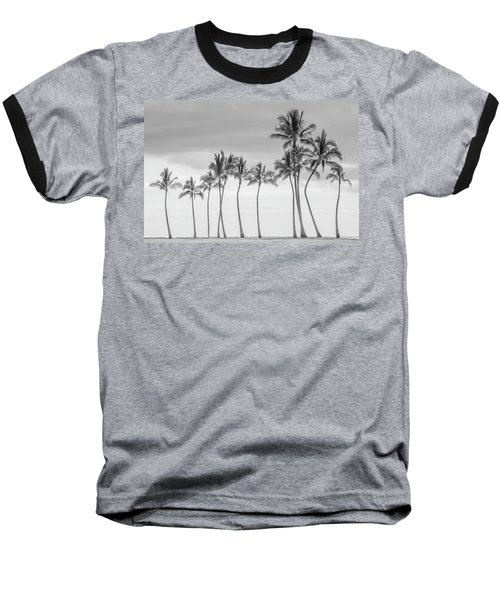 Paradise In Black And White Baseball T-Shirt