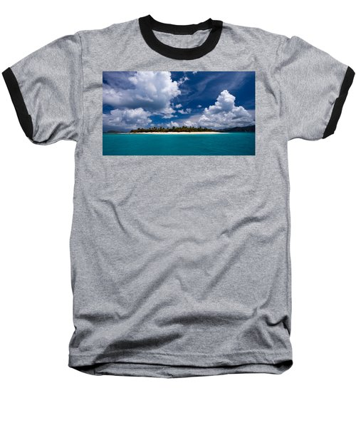 Paradise Is Sandy Cay Baseball T-Shirt by Adam Romanowicz
