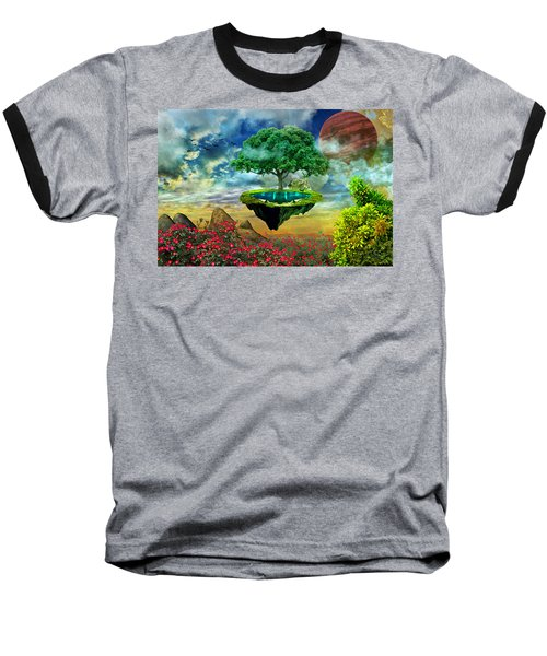 Paradise Island Baseball T-Shirt by Ally White