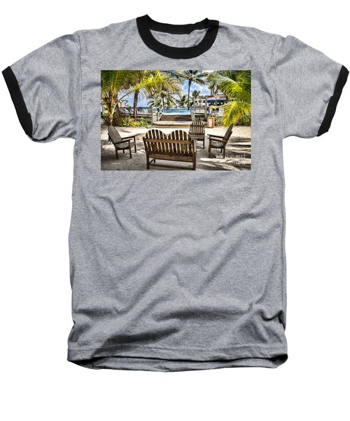 Paradise Baseball T-Shirt by Lawrence Burry