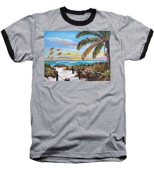 Paradise Baseball T-Shirt by Lloyd Dobson