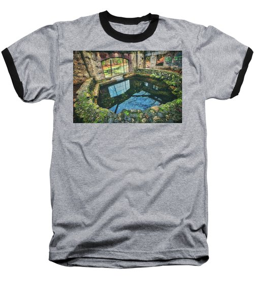 Baseball T-Shirt featuring the photograph Paradise Springs- Spring House - Kettle Moraine State Forest by Jennifer Rondinelli Reilly - Fine Art Photography