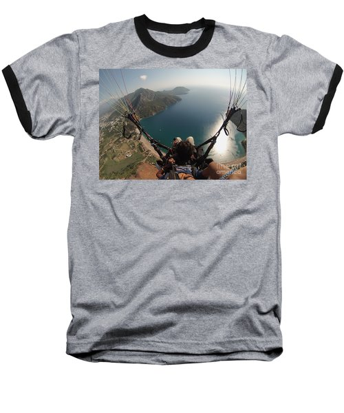Paragliding Fly Above Laguna Seascape Baseball T-Shirt