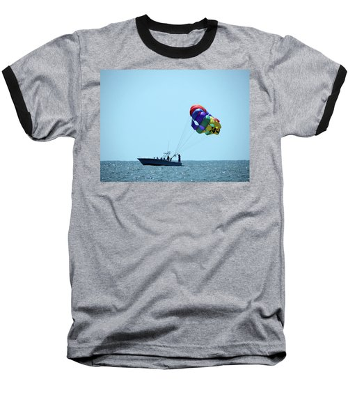 Baseball T-Shirt featuring the photograph Parasail by Cathy Harper