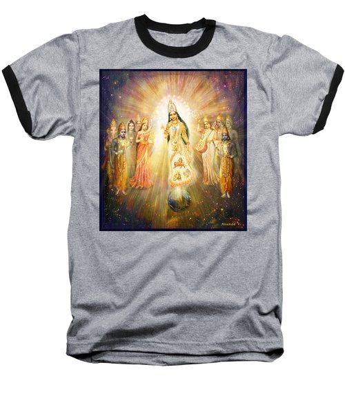 Parashakti Devi - The Great Goddess In Space Baseball T-Shirt by Ananda Vdovic