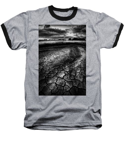 Parched Prairie Baseball T-Shirt by Dan Jurak
