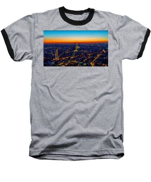 Paris After Sunset Baseball T-Shirt