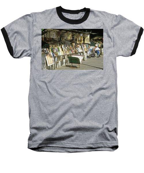 Paris Bookseller Stall Baseball T-Shirt