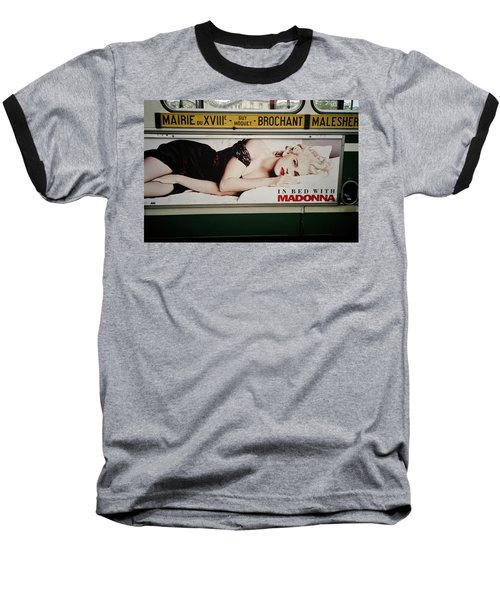 Baseball T-Shirt featuring the photograph Paris Bus by Frank DiMarco