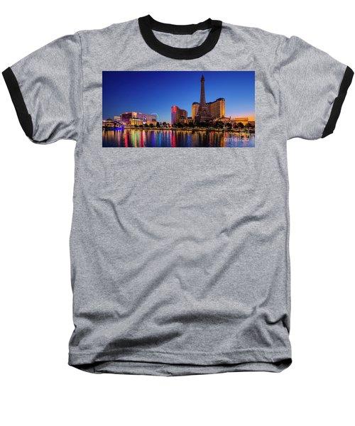 Paris Casino At Dawn 2 To 1 Ratio Baseball T-Shirt