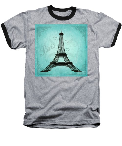 Paris Collage Baseball T-Shirt