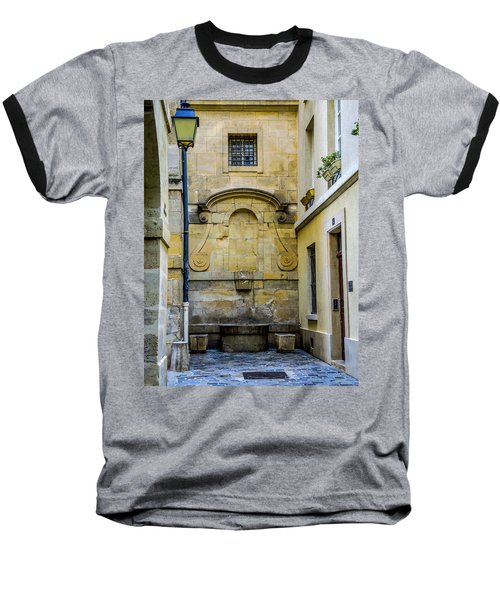 Baseball T-Shirt featuring the photograph Paris Corner Le Marais by Sally Ross