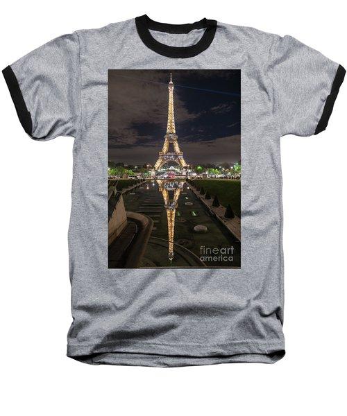 Paris Eiffel Tower Dazzling At Night Baseball T-Shirt